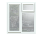 Casement window style available in wood, uPVC or aluminium