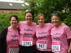 Anglian staff at the start line