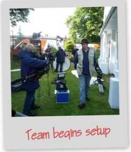 team begins setup hspace=