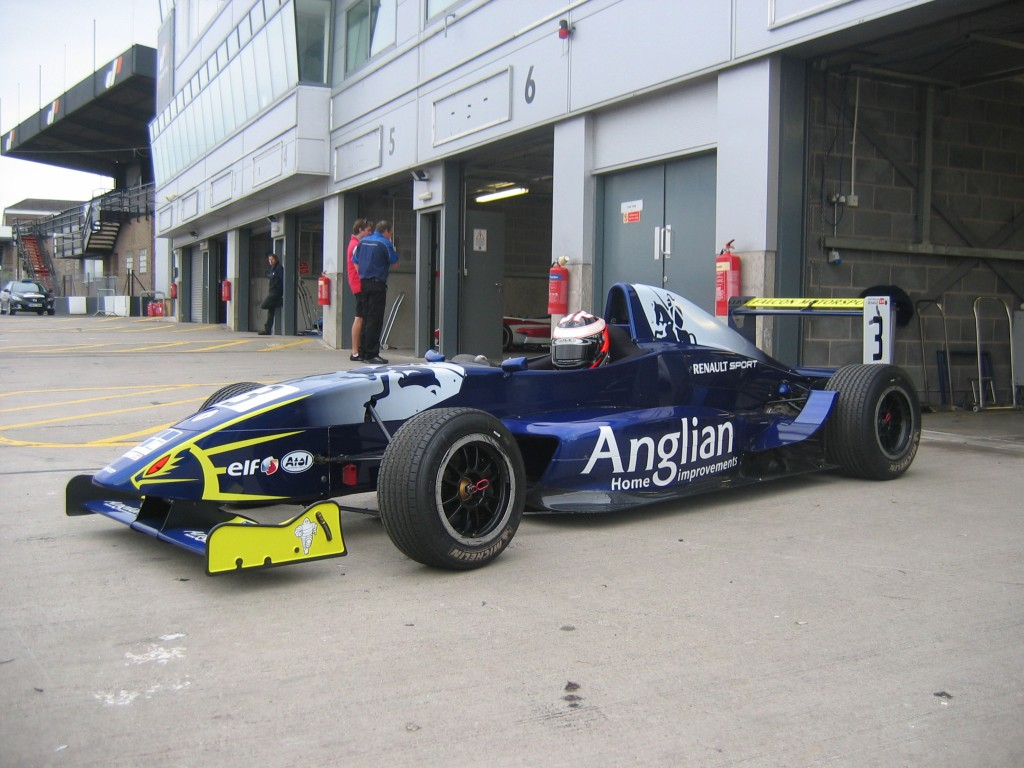 the anglian home improvements racing car roles out onto. Black Bedroom Furniture Sets. Home Design Ideas