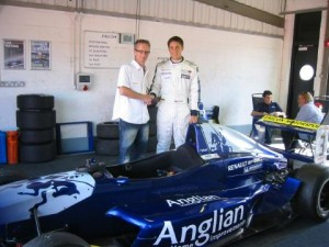 Jack Piper with Tim Lucas from Anglian Home Improvements
