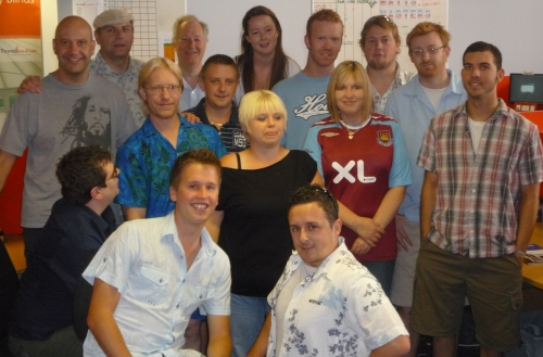 The call centre guys get into the summer mood