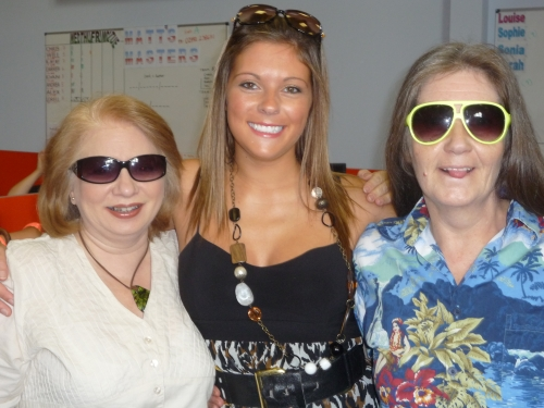 The Call centre girls have fun with shades