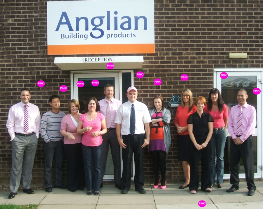 WEAR IT PINK WITH ANGLIAN BUILDING PRODUCTS