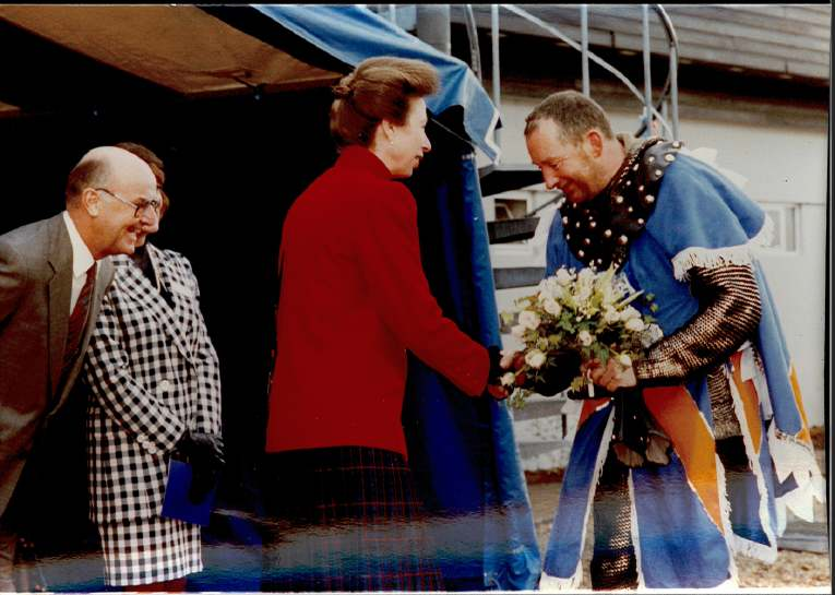 HRH The Princess Royal meeting the Anglian Knight in 1992