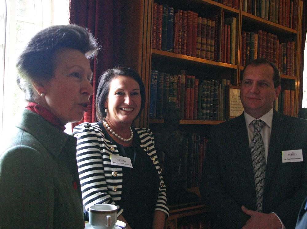 HRH the Princess Royal with Anglian Chief Executive Peter Mottershead and Head of Marketing Melanie McDonald