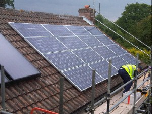 Anglian Solar Panels being installed