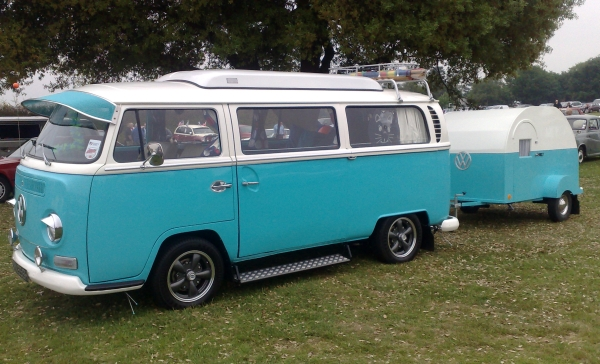 Lovely VW Camper van with accompanying trailer
