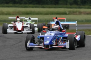 Jack Piper moving up the field at Croft