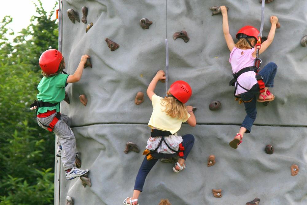 Climbing Wall at Family Fun Fayre