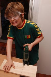 Boy Attempting DIY