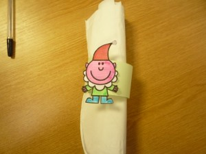 My 3 minute Elf napkin ring