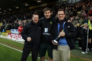 Grant Holt winning Anglian MOTM