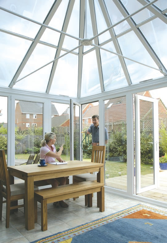 Solar roof enhancing your conservatory