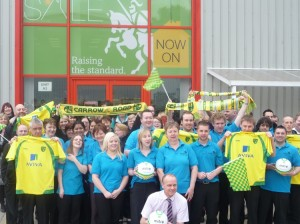 Anglian supporting Norwich vs Swansea