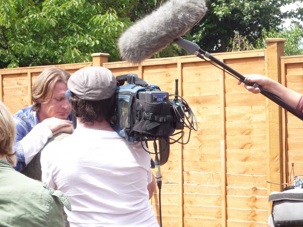 David on set