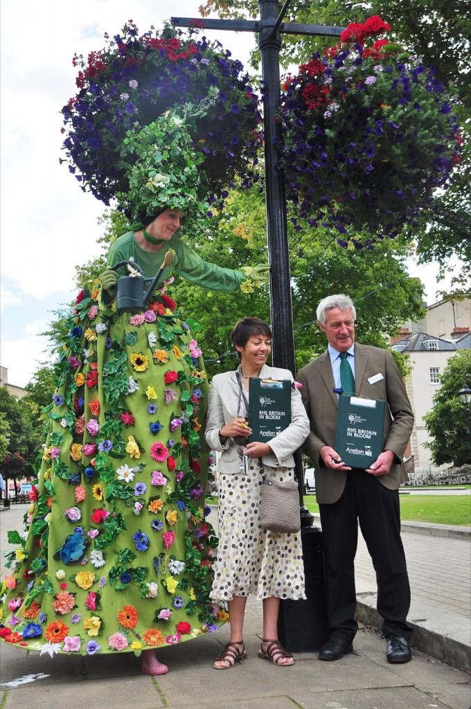 Bristol in Bloom being judged