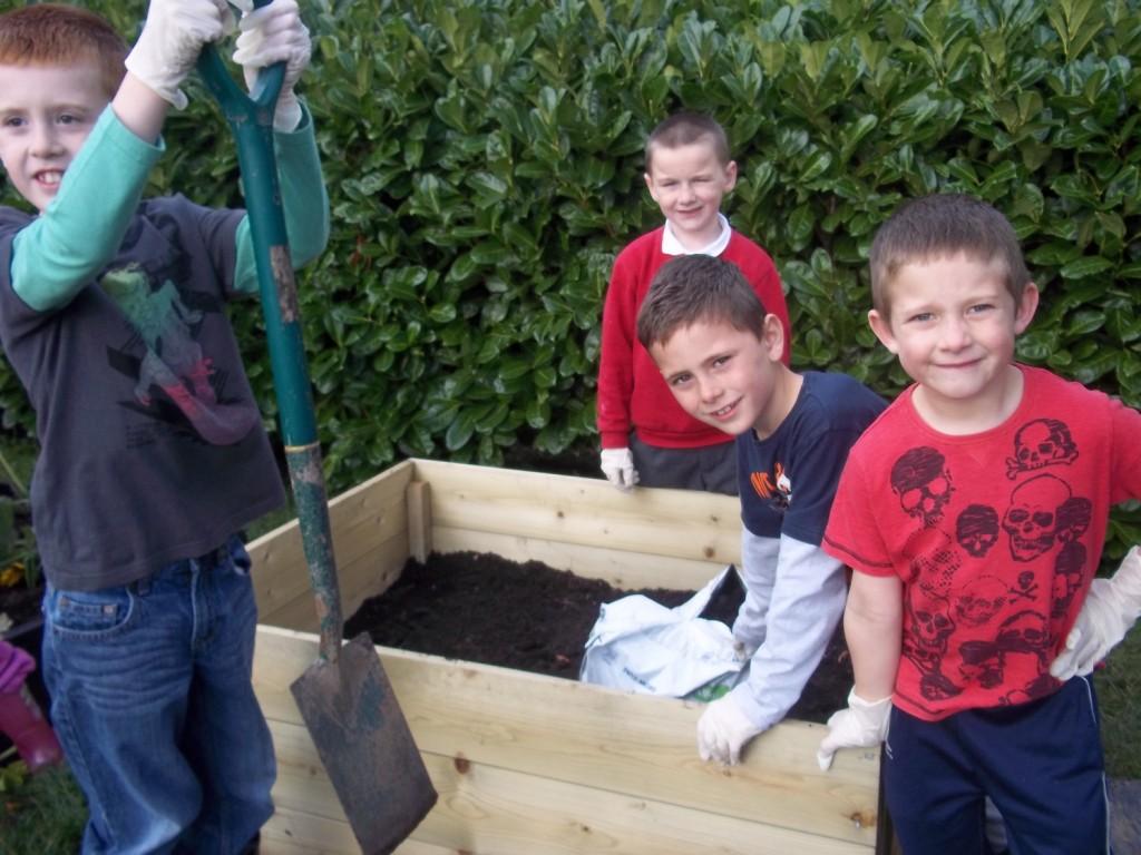 Gardening Club planting Carrots