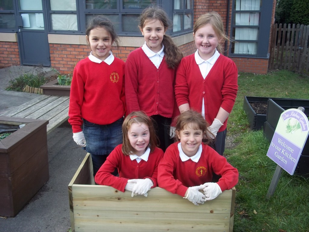 Gardening Club in a planter