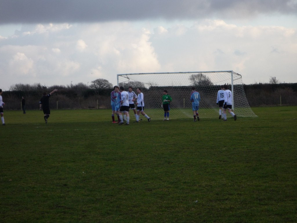 Anglian defending the corner