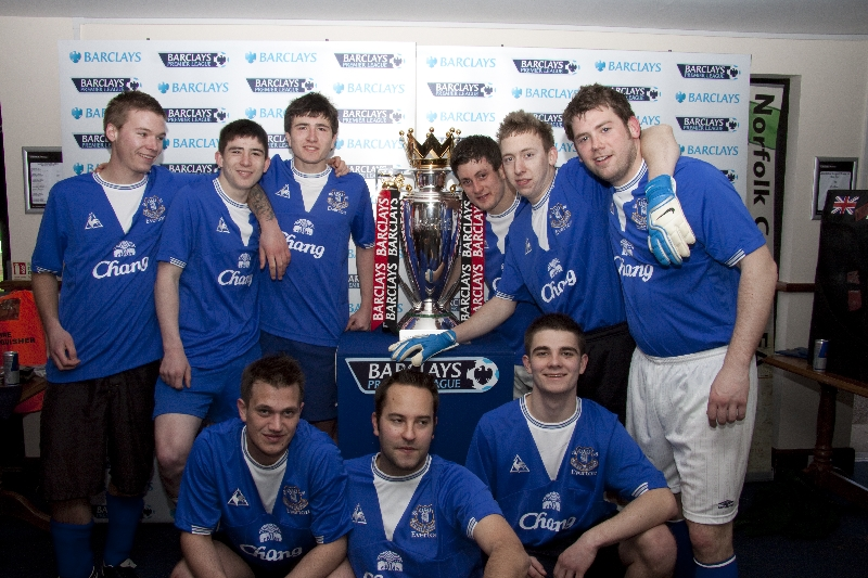 The Everton team from the last event