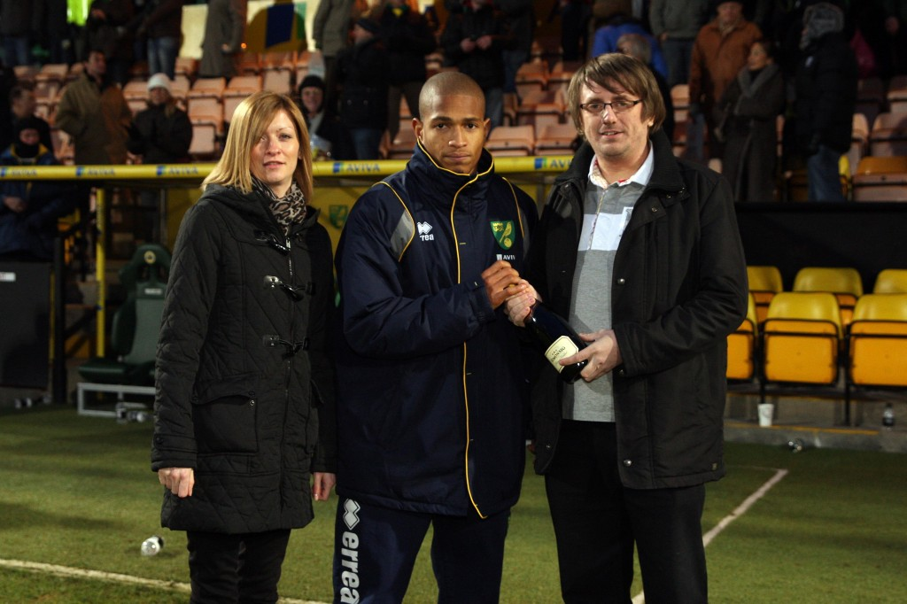 Erin and Paul present Man of the Match Award
