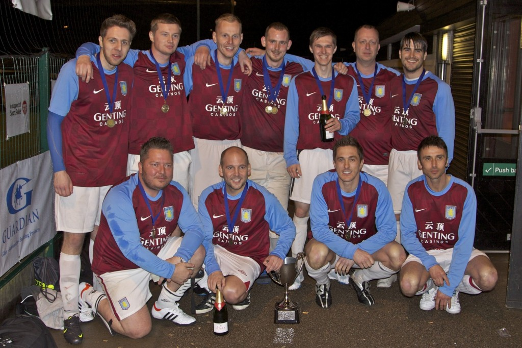 Aston Villa with their trophy