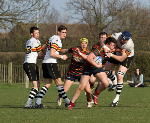 Stowmarket with a high tackle