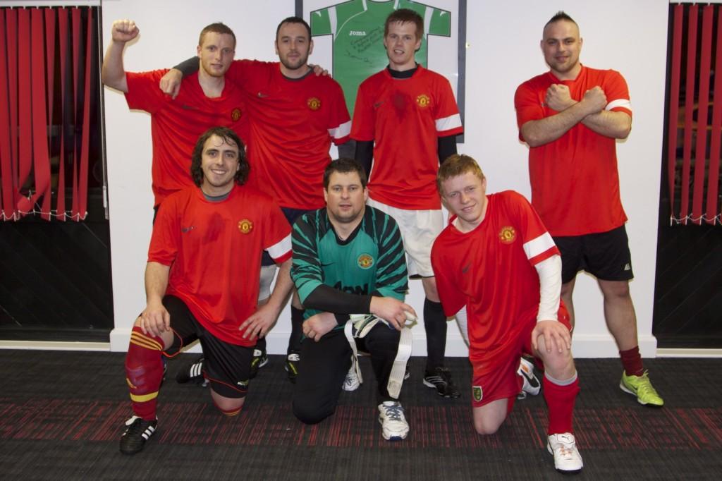 Jason Burchett (X-factor fan) & his Manchester United squad