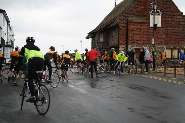 Riders mustering at Aldeburgh in 2011