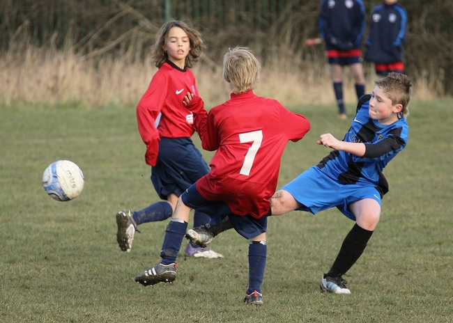 Cottage Farm FC in action