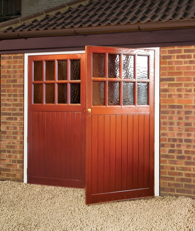 New style side hinged garage doors good to be home for Garage side door and frame