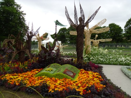 A Very Victorian Fantasy garden at Hampton Court Palace Flower Show