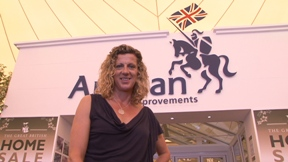 Sally Gunnell at the Hampton Court Grapevine Theatre on Anglians conservatory stand