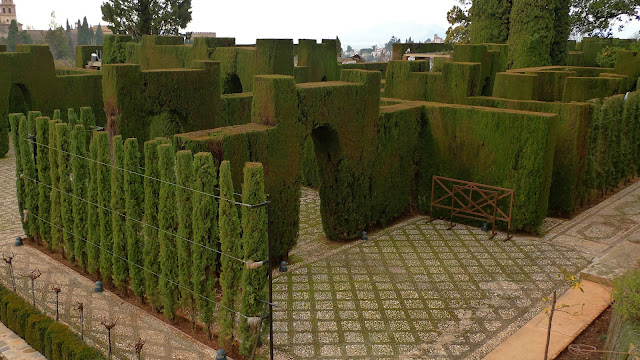 Cypress Trees shaped like castles at The Generalife