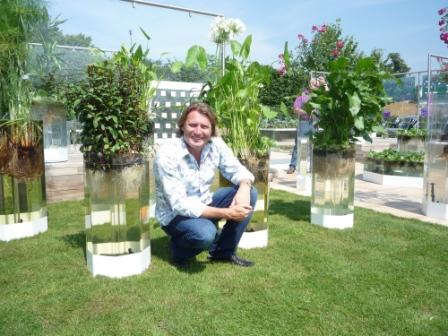David Domoney on the Naked Garden at Hampton Court Palace Flower Show 2011
