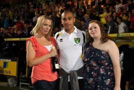 Norwich vs Ajax - James Vaughan was named Man of the Match