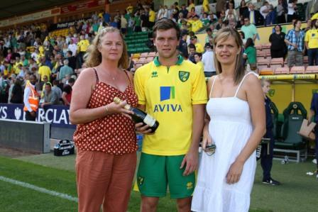 Norwich vs Borussia Monchengladbach Man of the Match Jonny Howson
