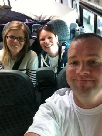 Paul Kemmett, Mhairi Macmillan & Caroline Mills on route to Ben Nevis