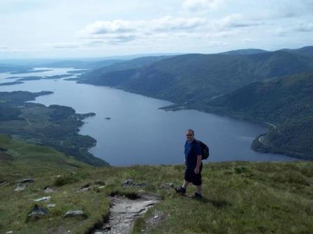 Paul Kemmett on Ben Lomond
