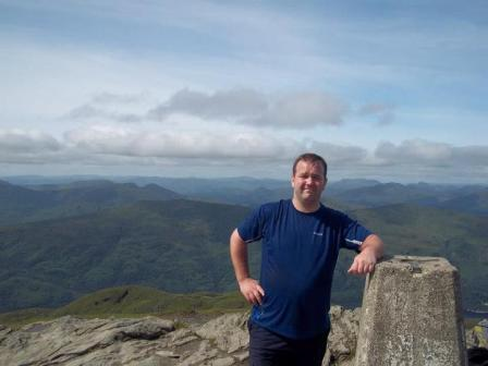 Paul Kemmett training for 3 Peaks
