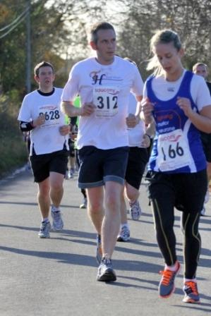 Matthew Cubitt doing the Norwich half marathon