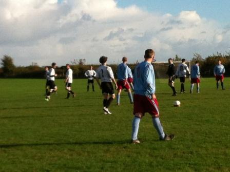 Anglian Knights vs Mousehold Ellis with a free kick