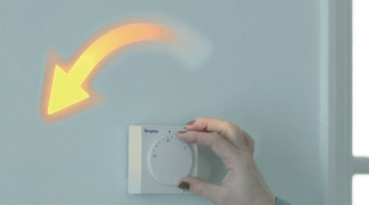 Snapshot of a thermostat from Anglian's EcoGain advert
