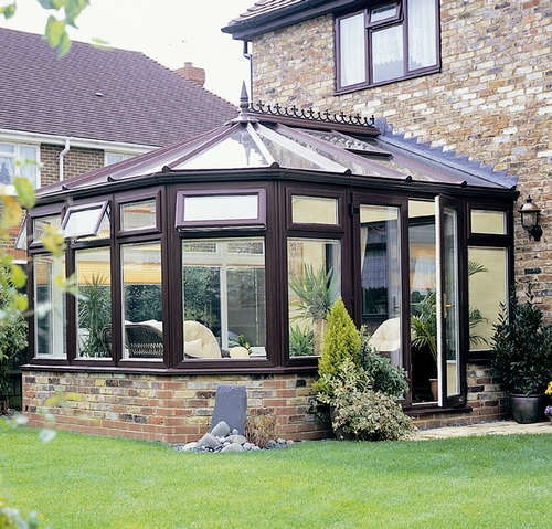 Wood finish conservatory