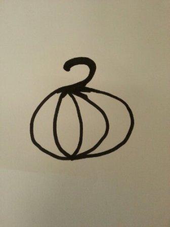 Template for a pumpkin