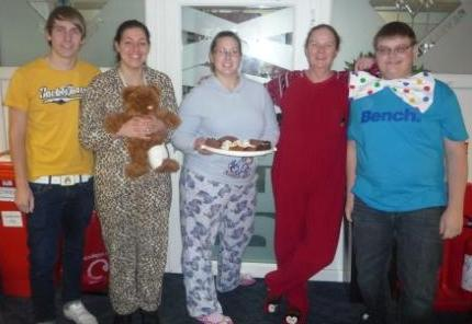 BBC Children in Need at Anglian - PJ's, spots and yellow outfits