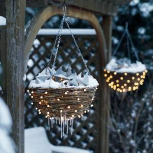 Homes Gardens Light baskets for the garden