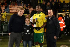 Anglian Home Improvements, Man of the Match Sebatien Bassong  vs Chelsea