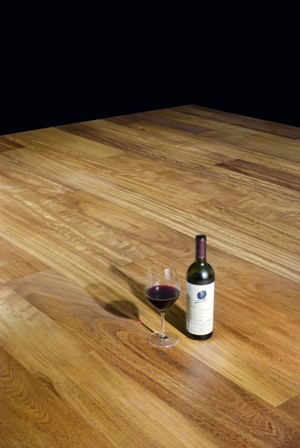 Wine on a beautiful Timberland floor
